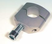 pontes standard pour tes de fourche perces diametre 12 mmm anodise argent  pontets