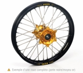 ROUE MX-ENDURO MOYEUX HANN WELLS OR JANTE EXEL NOIR 450 TE 2006-2011    roue jante