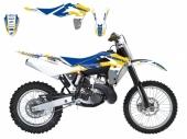 kit deco dream graphic 3  jaune  husqvarna  250  WR  2006-2013