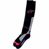 chaussettes alpinestars long tech mx thick rouge/noir jambieres chaussettes
