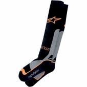 chaussettes alpinestars techstar coolmax  blanche/noir jambieres chaussettes