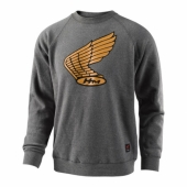 SWEAT TLD HONDA WING CREW GRIS sweatshirt