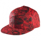 CASQUETTE TROY LEE DESING HISTORY ROUGE casquettes