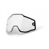 double ecran anti-buee clair 100 % racer accessoires lunettes