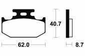 Plaquettes de frein arrière BREMBO YZ 250 1990-1991 plaquettes de frein