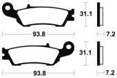 Plaquettes de frein avant BREMBO  YAMAHA 250 YZ 2008-2017 plaquettes de frein