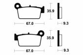 Plaquettes de frein arrière BREMBO YAMAHA 250 WR-F 2003 -2016 plaquettes de frein