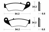 Plaquettes de frein avant BREMBO EC / MC 2000-2010 plaquettes de frein