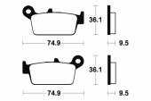 Plaquettes de frein arrière BREMBO EC / MC 2000-2010 plaquettes de frein