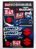 planche auto collants one suzuki yoshimura planche auto collants