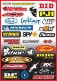 Planche de stickers FX Sponsors planche auto collants
