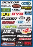 Planche de stickers FX Sponsor planche auto collants
