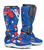 Bottes Moto Cross SIDI Crossfire SRS 3 Blanc Bleu Rouge Fluo bottes