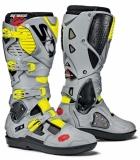 Bottes Moto Cross SIDI Crossfire SRS 3 Noir Cendre Jaune Fluo bottes