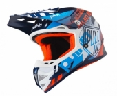 Casque CROSS PULL IN TRASH Navy Orange casques