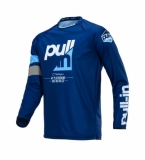 MAILLOT CROSS  PULL-IN  CHALLENGER RACE NAVY/CYAN maillots pantalons