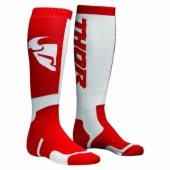 chaussettes thor MX SOCKS   ROUGE/BLANCHE jambieres chaussettes