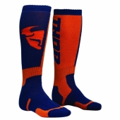 chaussettes thor MX SOCKS NAVY/ORANGE jambieres chaussettes