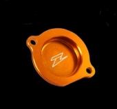 COUVERCLE FILTRE ANODISE ORANGE KTM 350 EXC-F  2011-2017 couvre filtre a huile