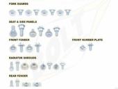 KITS VISSERIE PLASTIQUE BOLT 450 CR-F 2013-2016 kits visserie plastique