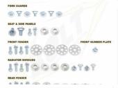 KITS VISSERIE PLASTIQUE BOLT 450 CRF-X  2004-2014 kits visserie plastique