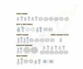 KITS VISSERIE PLASTIQUE BOLT KAWASAKI 250 KX-F 2004-2019 kits visserie plastique