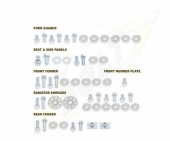 KITS VISSERIE PLASTIQUE BOLT KAWASAKI 450 KX-F 2004-2015 kits visserie plastique