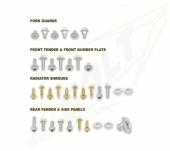 KITS VISSERIE PLASTIQUE BOLT KTM EX-C tous modeles  2004-2007 kits visserie plastique