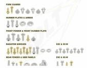 KITS VISSERIE PLASTIQUE BOLT KTM  EX-C tous modeles 2012-2016 kits visserie plastique