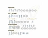 KITS VISSERIE PLASTIQUE BOLT SUZUKI  250 RM-Z 2004-2006 kits visserie plastique