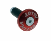 Embout De Guidon ALLOY  ROUGE embouts guidon