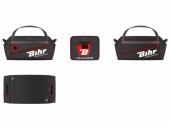 Sac de voyage BIHR grand volume 128L - 80 X 40 X 40 cm Noir/Rouge sacs