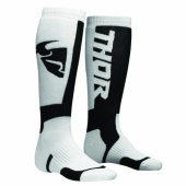 chaussettes thor MX SOCKS NOIR/BLANCHE jambieres chaussettes