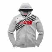 SWEAT ALPINESTARS ZIP STRIPEY FLEECE GRIS sweatshirt