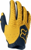 Gants Moto Cross FOX Pawtector Navy Jaune 2019 gants