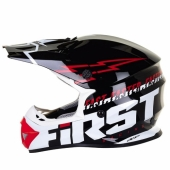 CASQUE FIRST RACING K2 JAUNE FLUO/ROUGE 2017 casques