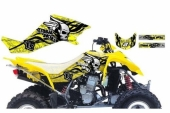 Kit Deco Blackbird Tribal Skull 2 Jaune Suzuki 400 LTZ 2003-2010 kit deco quad