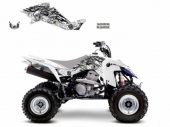 Kit Deco Blackbird Tribal Skull 2 Blanc Suzuki 400 LTZ 2003-2010 kit deco quad