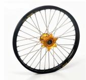 ROUE AVANT 21 MOYEUX HANN WEELS OR CERCLE EXEL NOIR MC/EC toutes cylindrees 2004-2015 roues completes