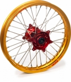 ROUE ARRIERE 19 MOYEUX HANN WEELS ROUGE CERCLE EXEL OR HONDA 450 CR-F 2002-2022 roues completes
