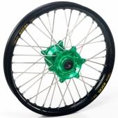 ROUE AVANT 21 MOYEUX HANN WEELS VERT CERCLE EXEL NOIR KAWASAKI 125/250 KX 1995-2008 roues completes