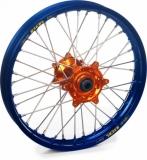 ROUE ARRIERE 19 MOYEUX HANN WEELS ORANGE CERCLE EXEL BLEU KTM SX/SX-F 125 et + 1995-2016 roues completes