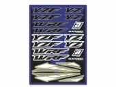 KIT AUTOCOLLANTS UNIVERSEL BLACKBIRD YAMAHA planche auto collants