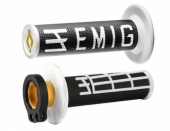 Poignees ODI Lock On V2 Emig Noir Blanc  revetements