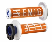 Poignees ODI Lock On V2 Emig  Orange Blanc  revetements