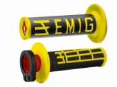 Poignees ODI Lock On V2 Emig Noir Jaune revetements
