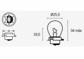 Ampoules Sb25 12V-15W ampoules