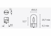 Ampoules T10 12V-3W ampoules