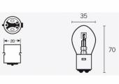 Ampoules B35 12V-35/35W ampoules