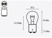 Ampoules P21 6V-21/5W ampoules